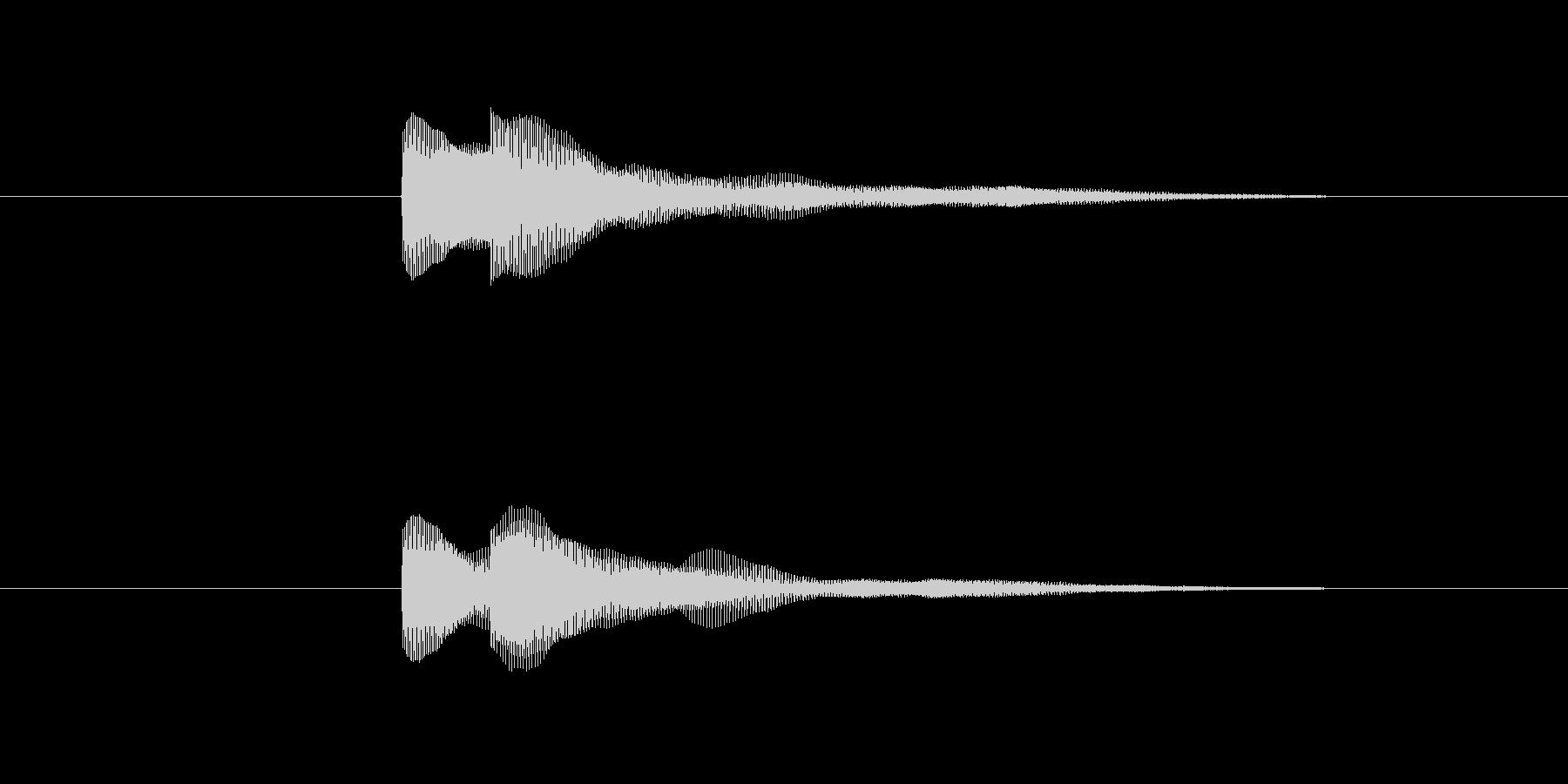ピコッ(決定する音)の未再生の波形