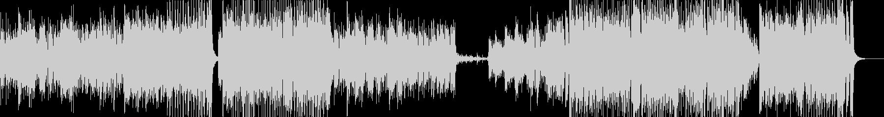 ピアノ主体のラテンなアップテンポの未再生の波形