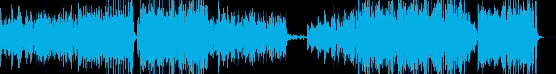 ピアノ主体のラテンなアップテンポの再生済みの波形