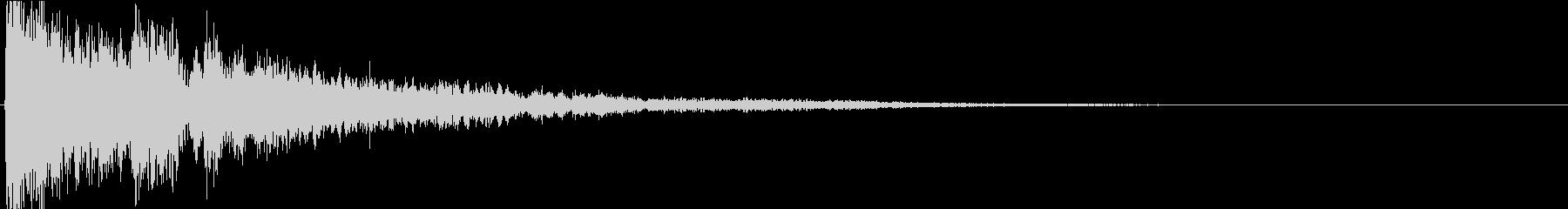 インパクトのある音03の未再生の波形