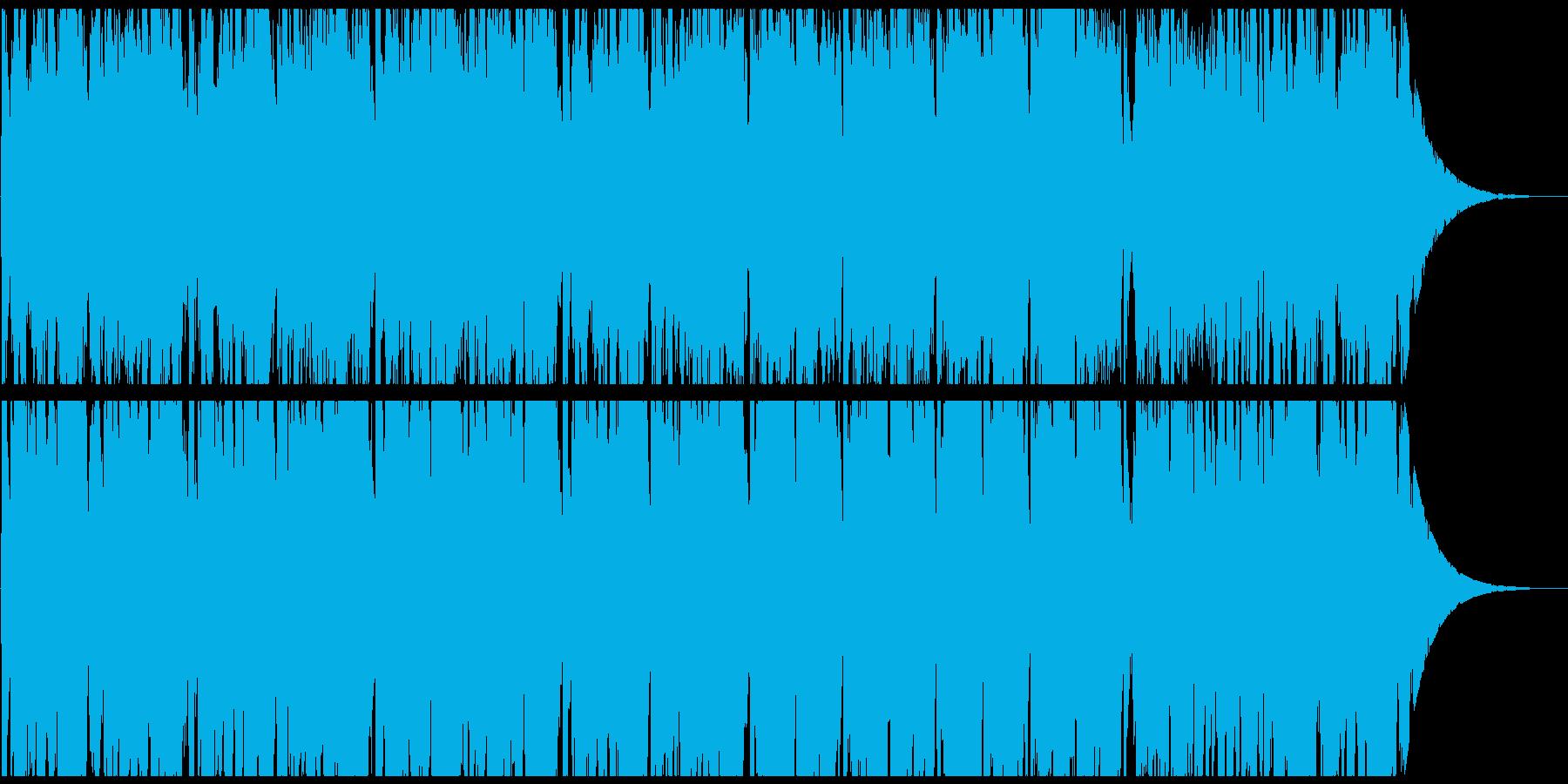 険しい登山をイメージしたオーケストラ曲の再生済みの波形