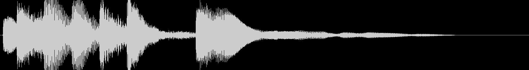 シンプルなジングルその12ですの未再生の波形