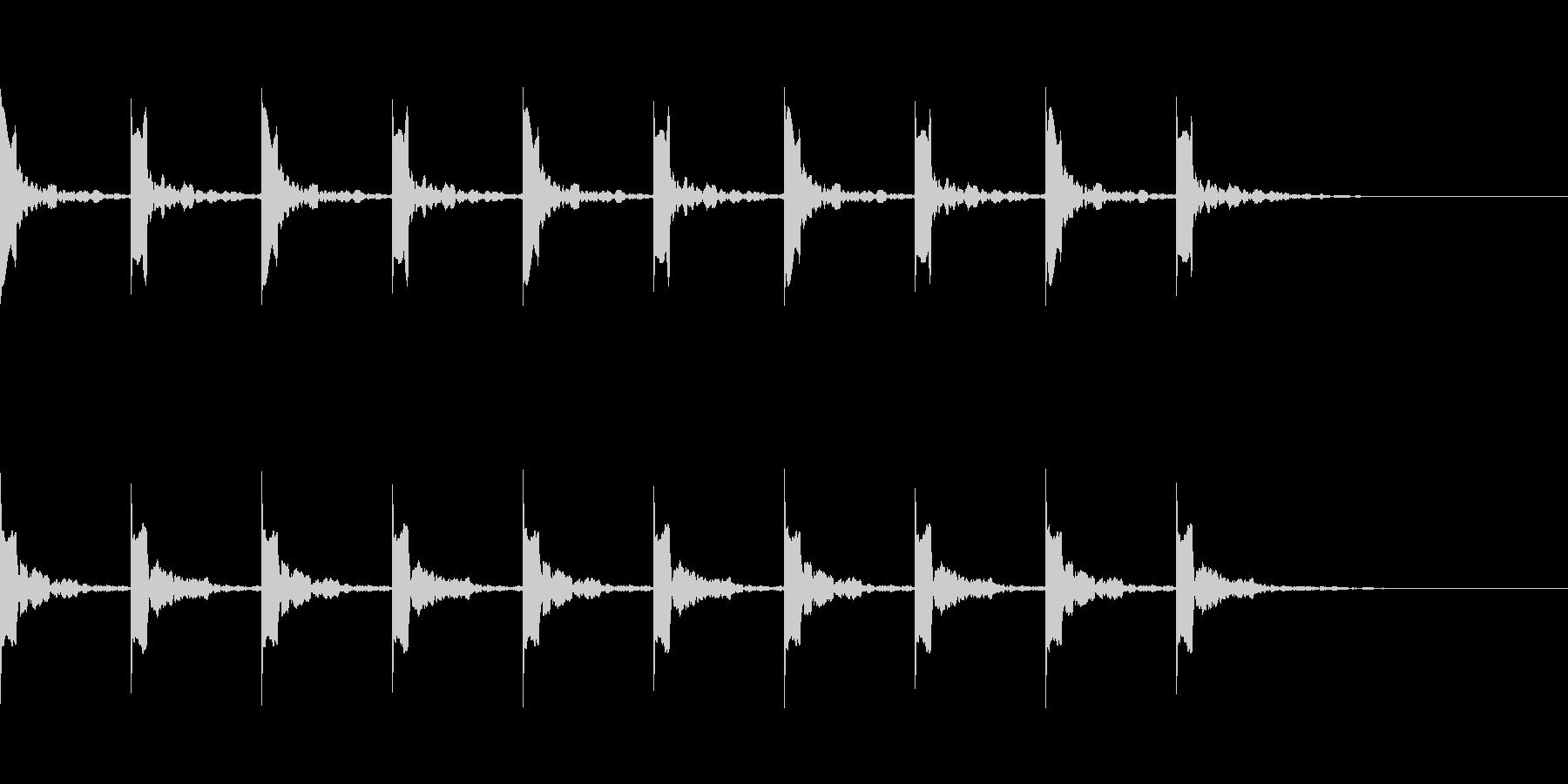 カウント10秒シンプル ピッピ の未再生の波形