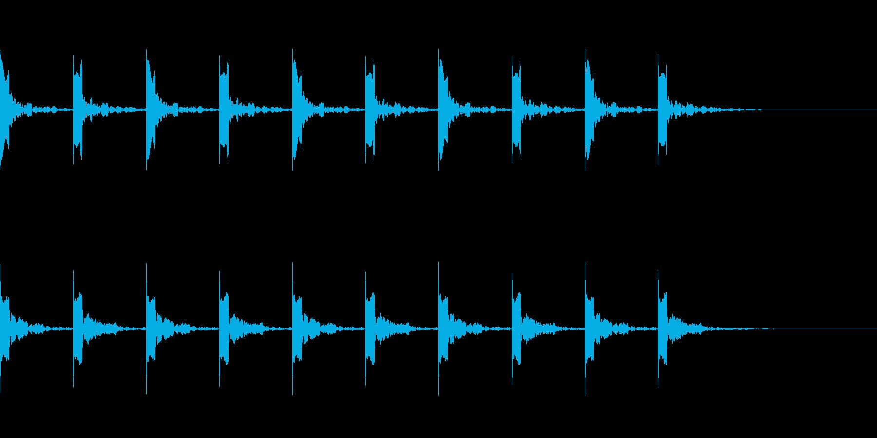 カウント10秒シンプル ピッピ の再生済みの波形