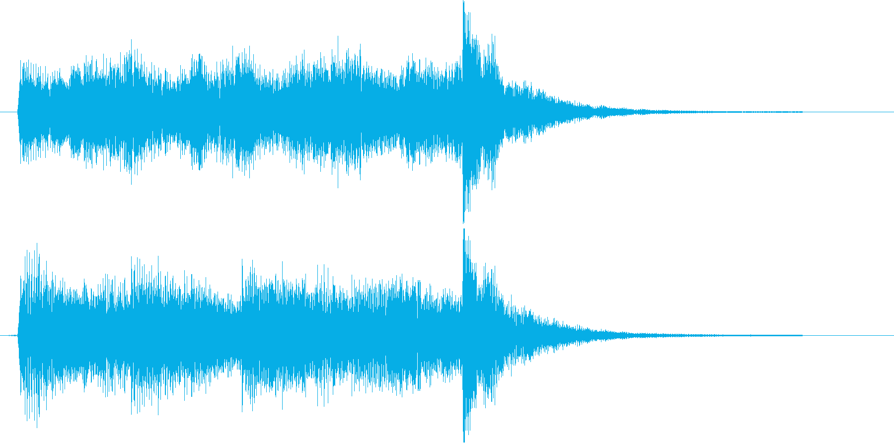 恐い物が迫って来るようなピアノの曲の再生済みの波形