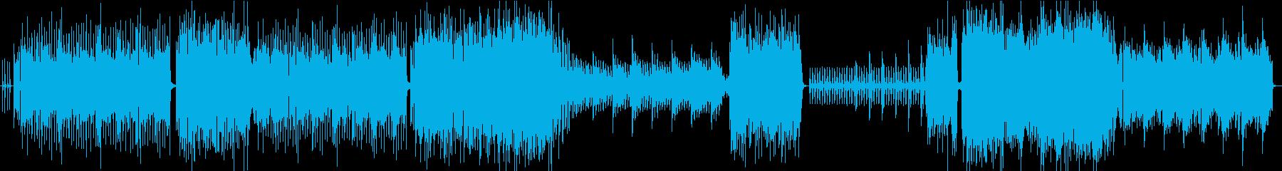 ロケット発射に臨むような高揚感のある曲の再生済みの波形