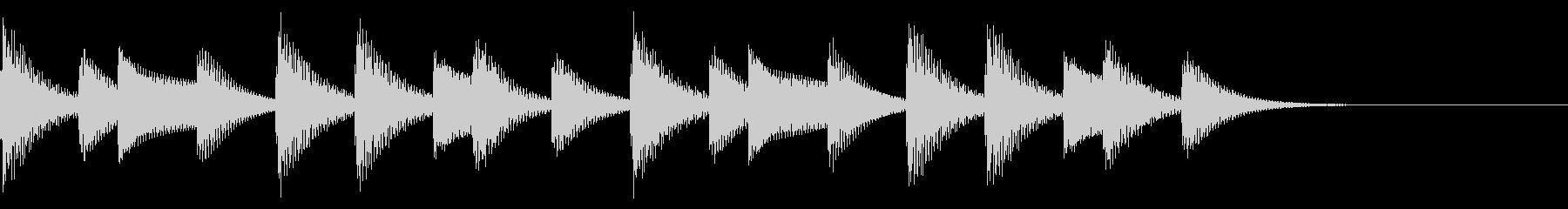 着信音、着信メロディー(ループ化)の未再生の波形