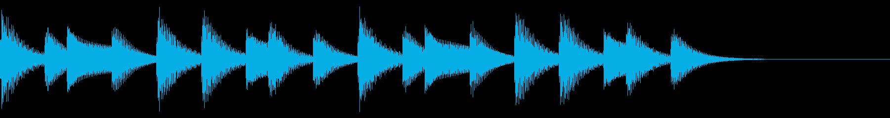 着信音、着信メロディー(ループ化)の再生済みの波形