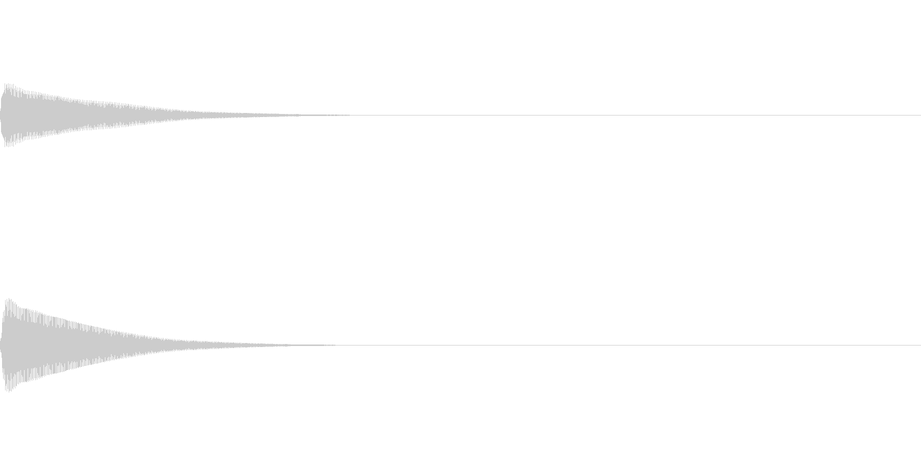 決定音などに使えるピコン音の未再生の波形