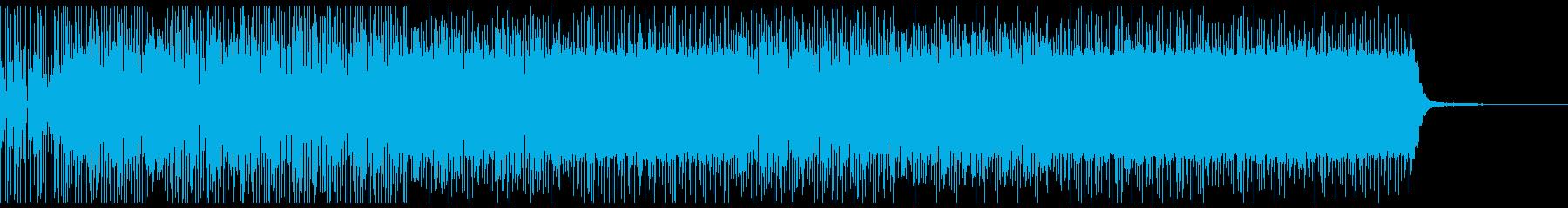 戦いをイメージした曲の再生済みの波形