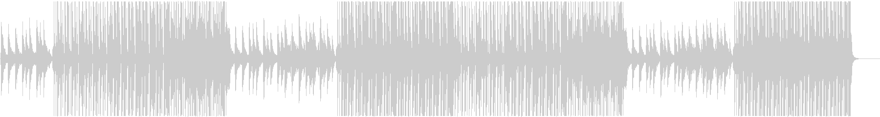ポップでハッピーなレゲトントラック♬の未再生の波形