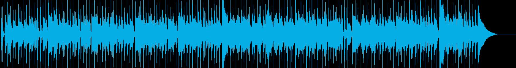 のんびりほのぼのとした日常系ポップスの再生済みの波形