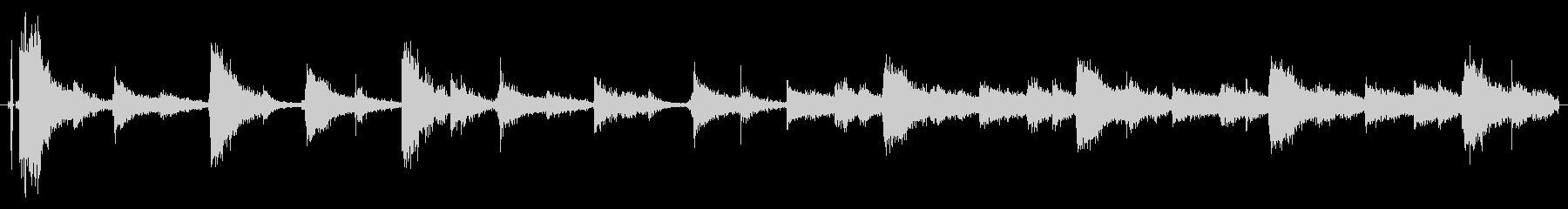 ドラムループ可能 ハイハット系01!の未再生の波形