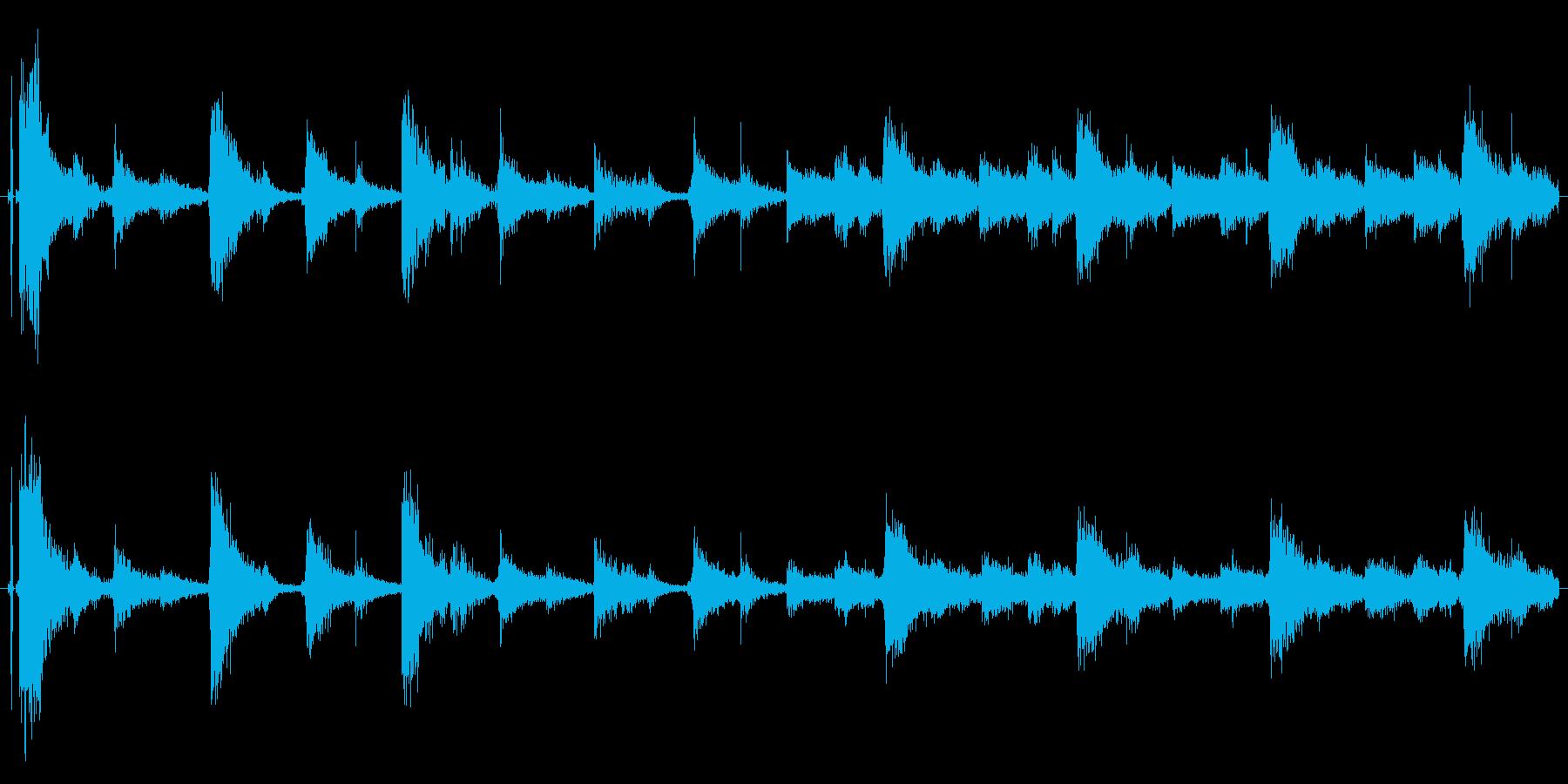 ドラムループ可能 ハイハット系01!の再生済みの波形