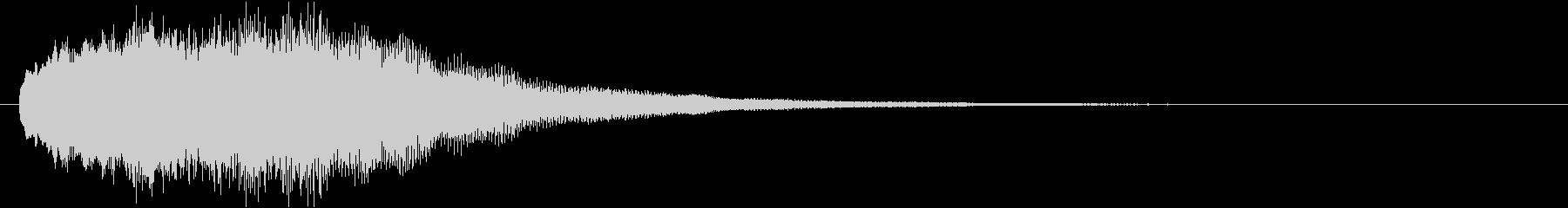 音楽効果;アルペジエイト合成チャイム。の未再生の波形