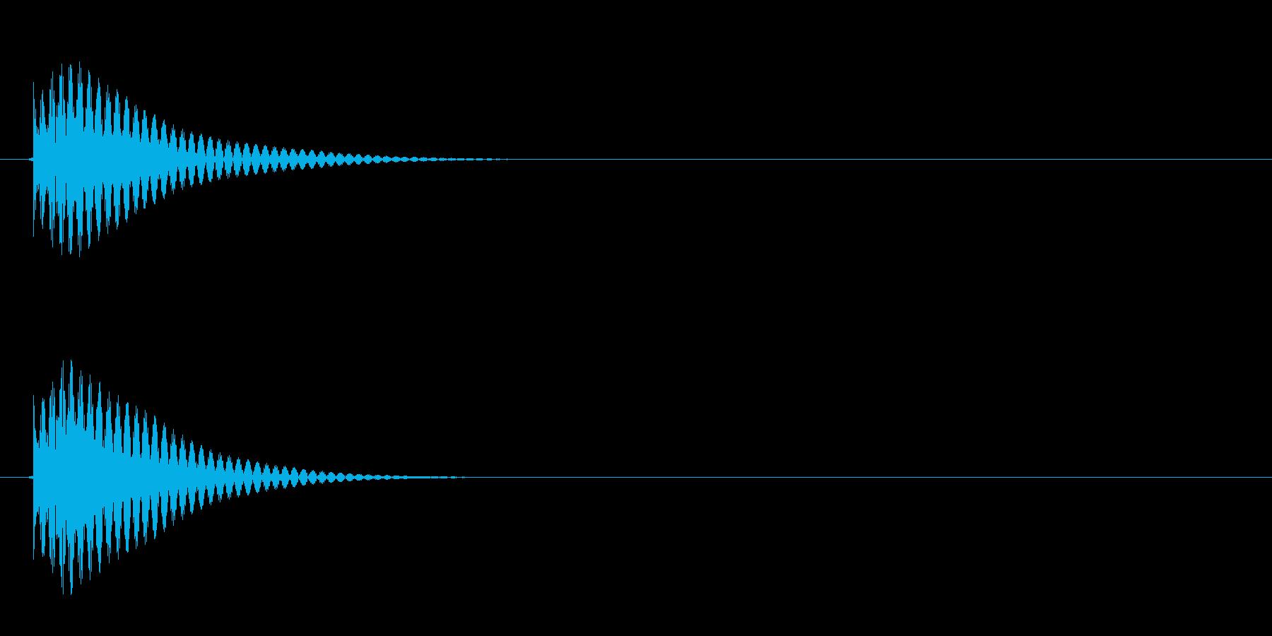 ゲーム等でのアイテム選択時にカーソルを…の再生済みの波形