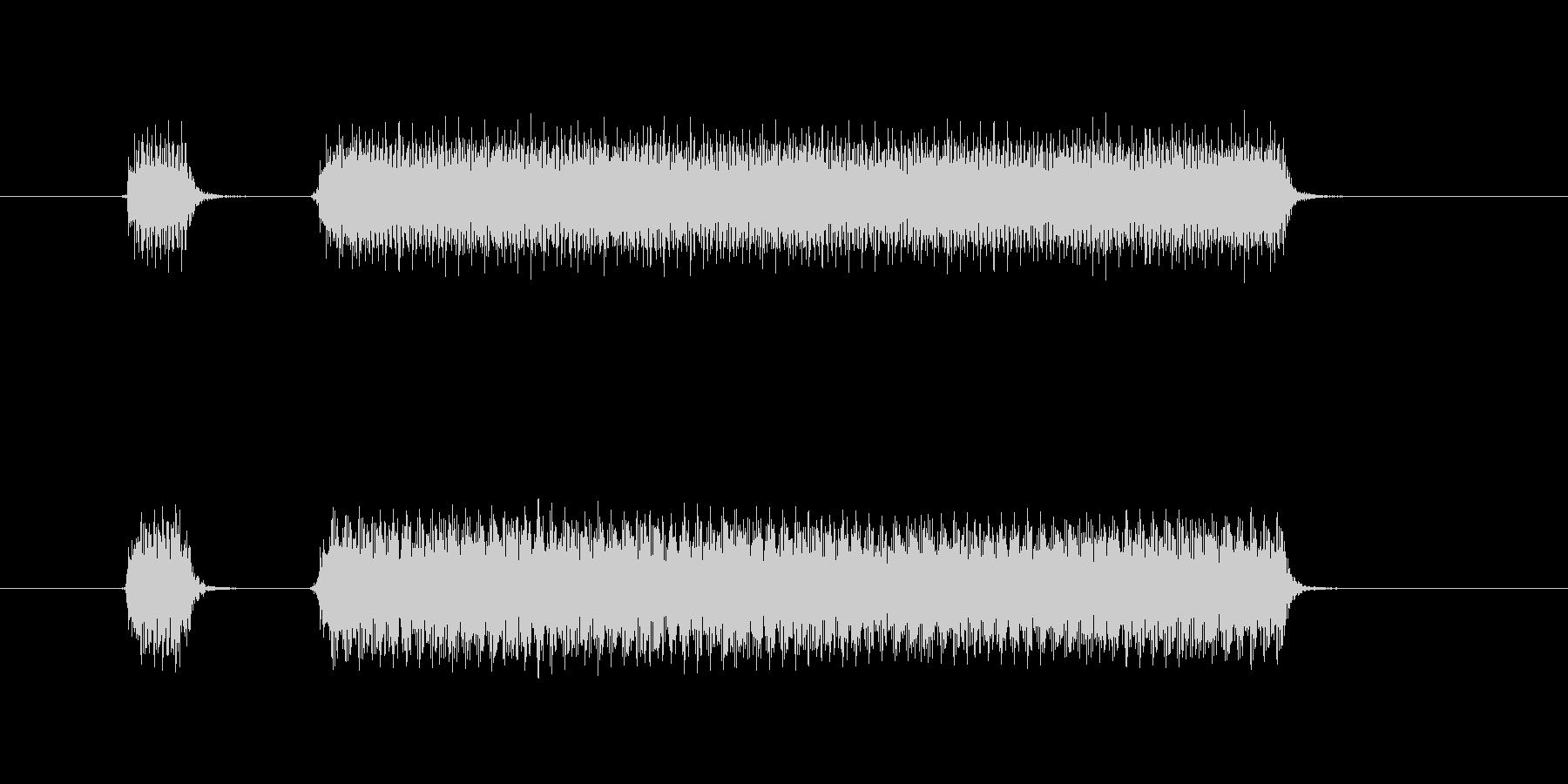 クラクション2連の未再生の波形
