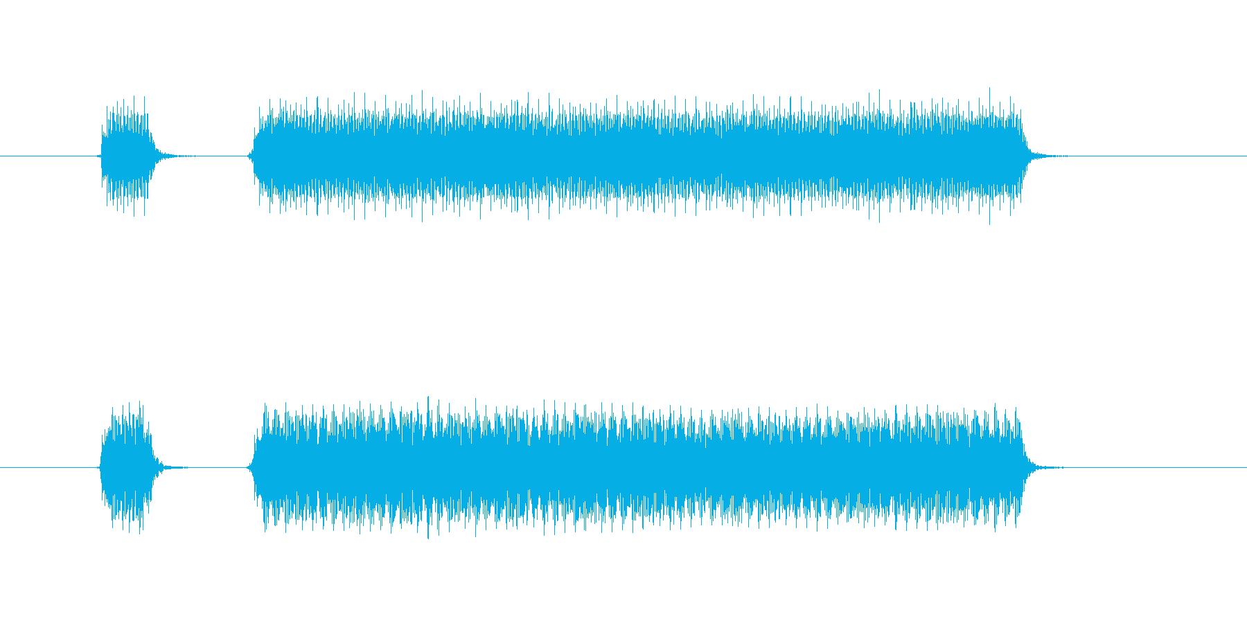 クラクション2連の再生済みの波形