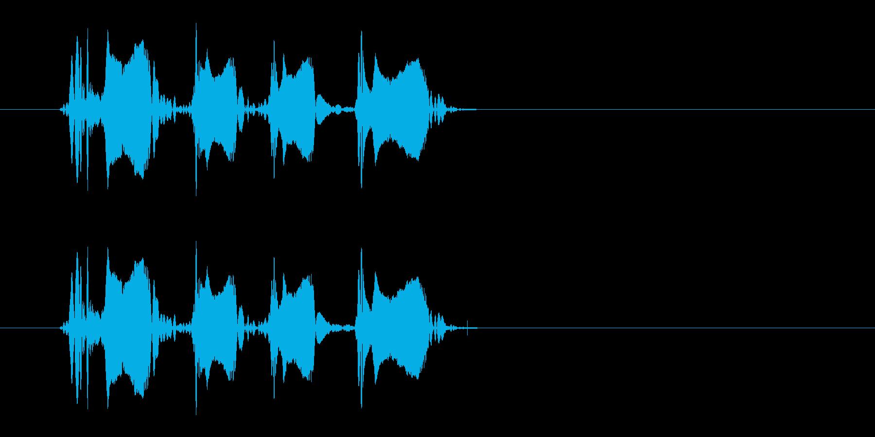 レーザー音-149-3の再生済みの波形