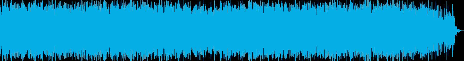 繰り返しのリラクゼーションミュージックの再生済みの波形
