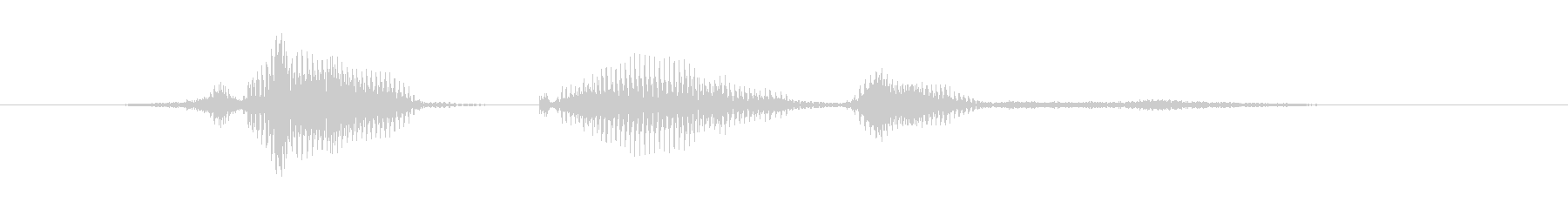 正解です(せいかいです)の未再生の波形