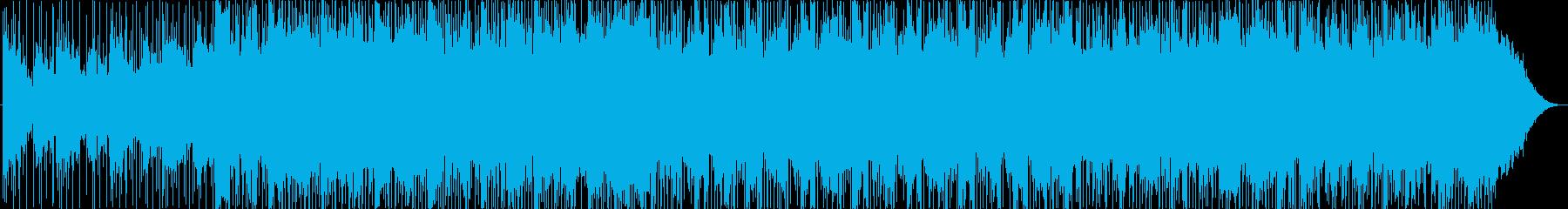 インスピレーションを与える音楽の背景の再生済みの波形