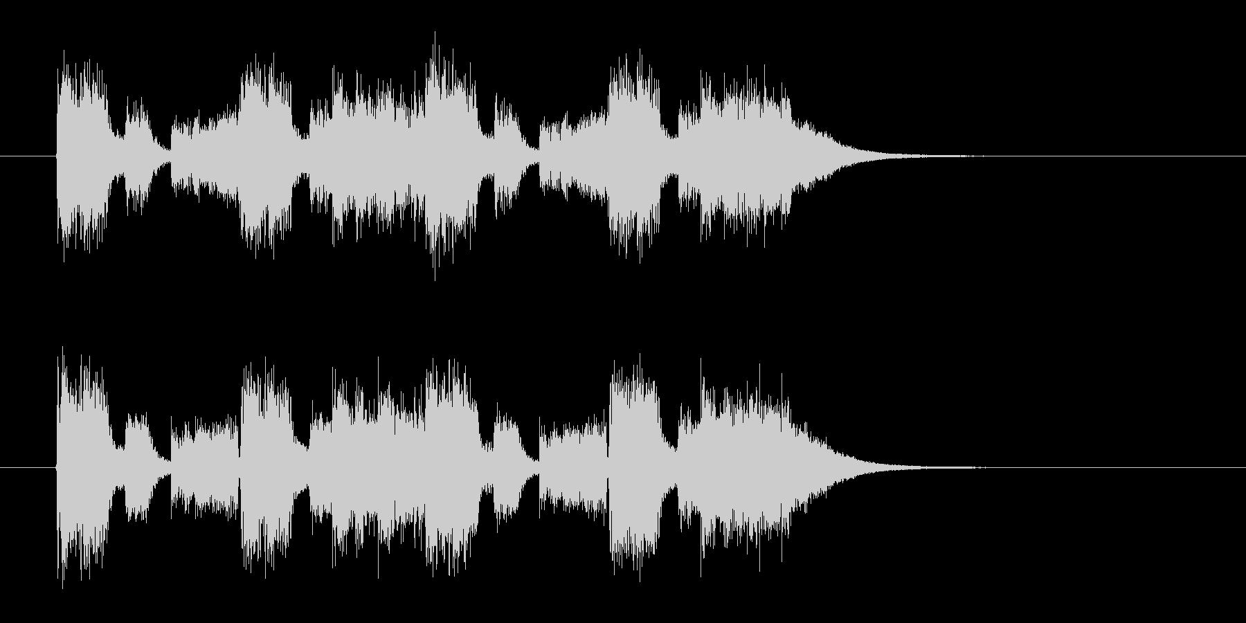 ギターのリフが重厚なメタルサウンドの未再生の波形