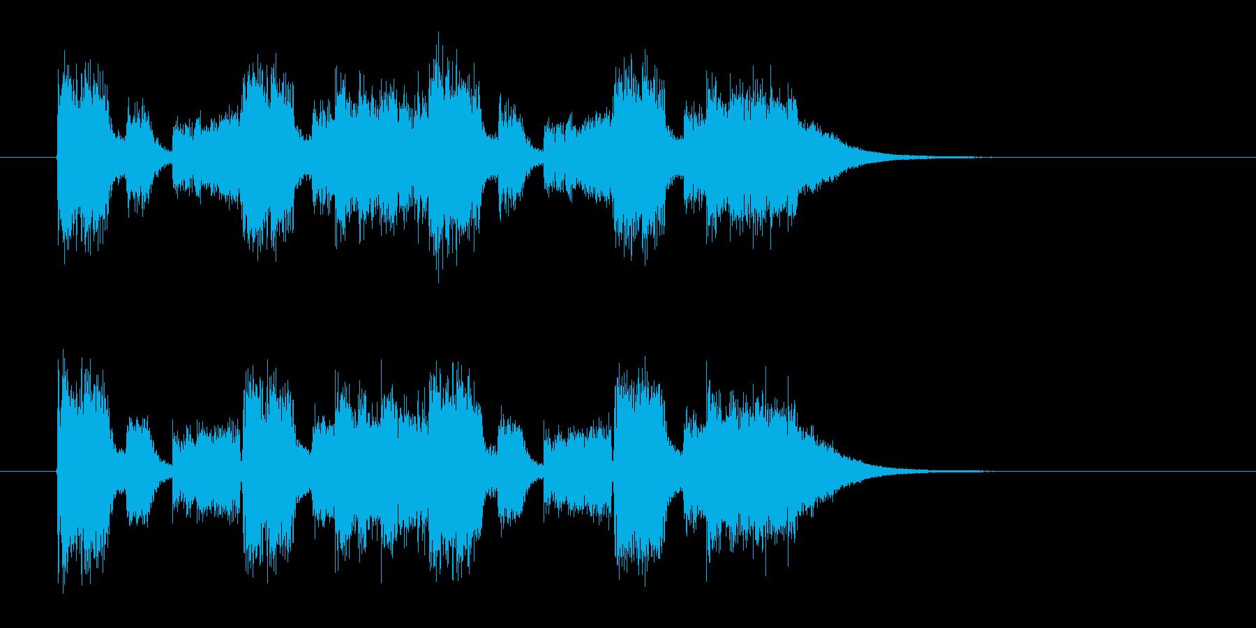 ギターのリフが重厚なメタルサウンドの再生済みの波形