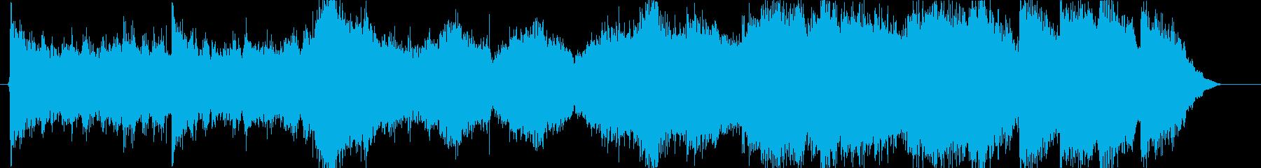 ゲーム、映画の予告用のコーラスを含んだ曲の再生済みの波形