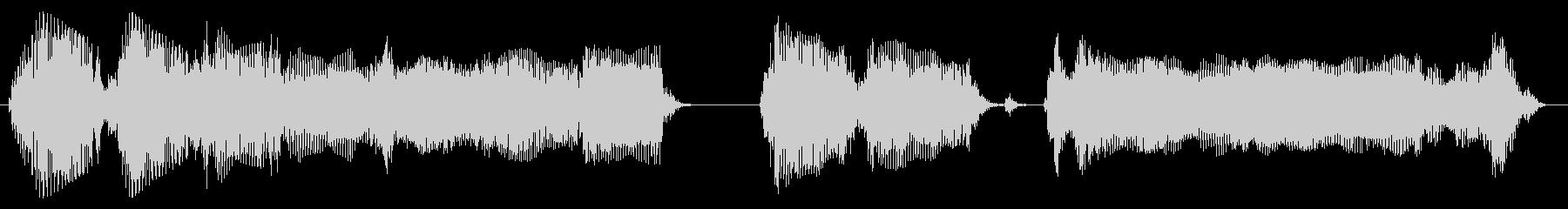 エレクトリックギター:ショートロックリフの未再生の波形