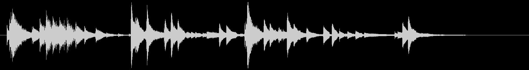 ウクレレハワイアンフレーズ5の未再生の波形