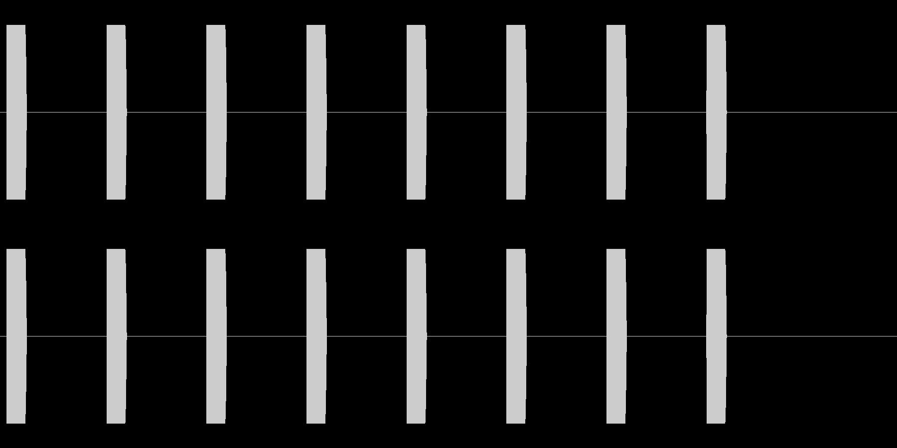 コミカルな足音 A-5-3の未再生の波形