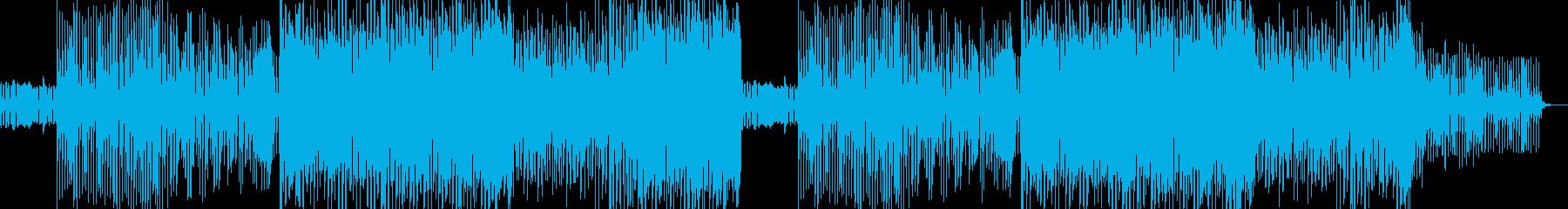シンプルなEDM風サウンドの再生済みの波形