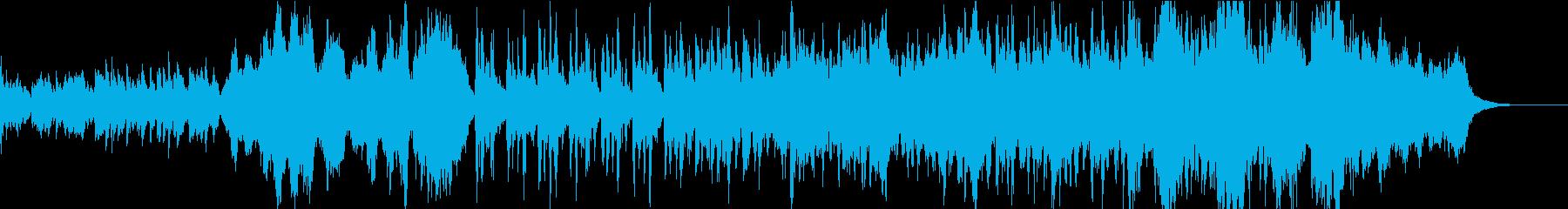 ターミネーター風の緊迫/ドラマチック音楽の再生済みの波形