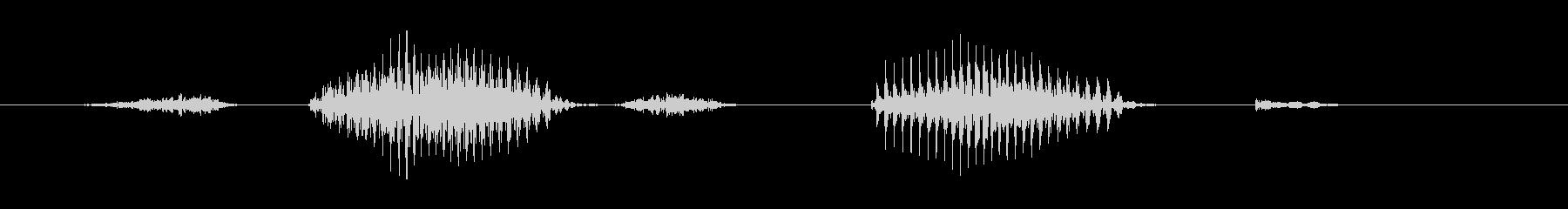 ステージ8(えいと)の未再生の波形