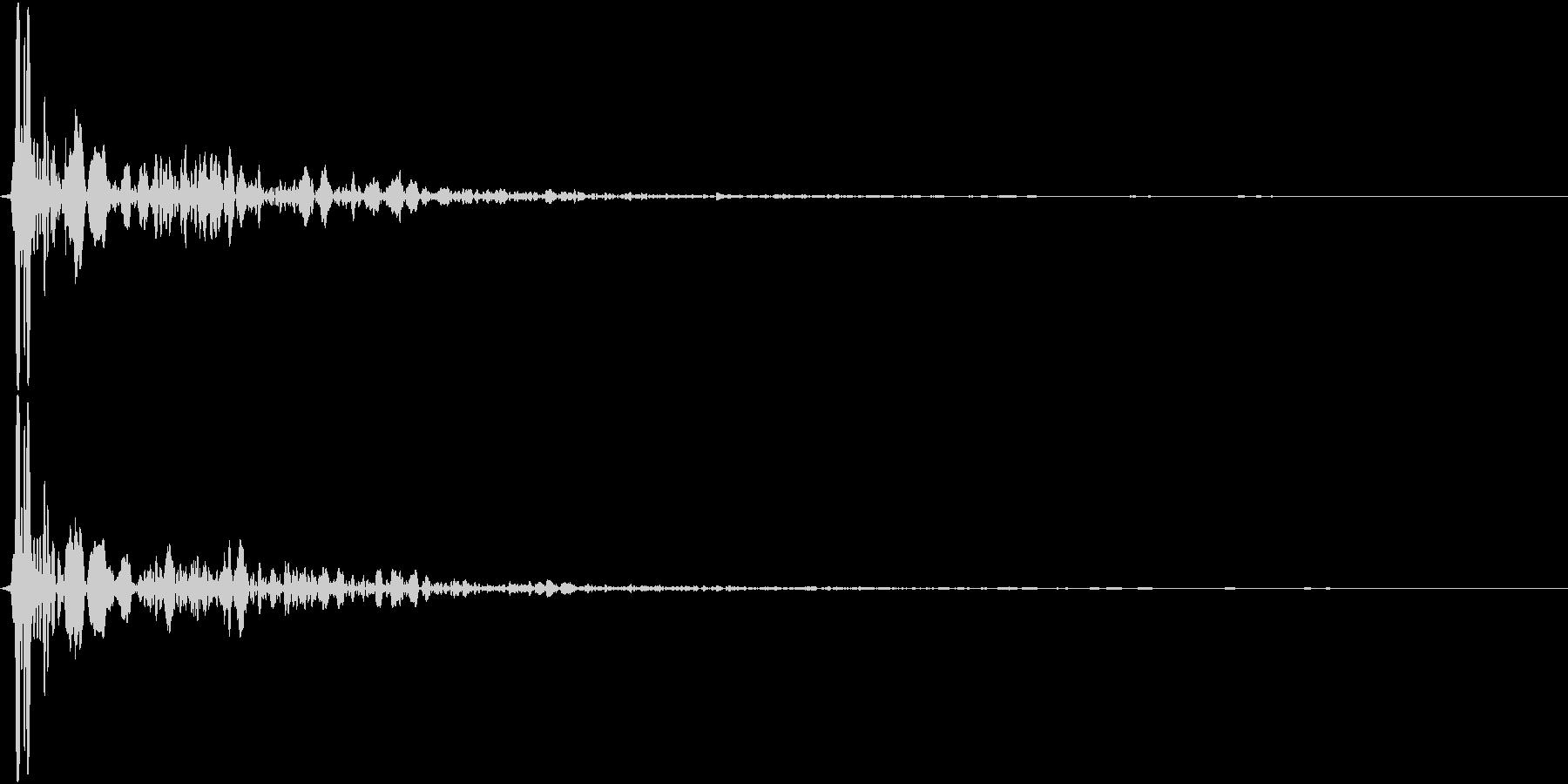 【生録音】蹴る音 キック 再現音 2の未再生の波形