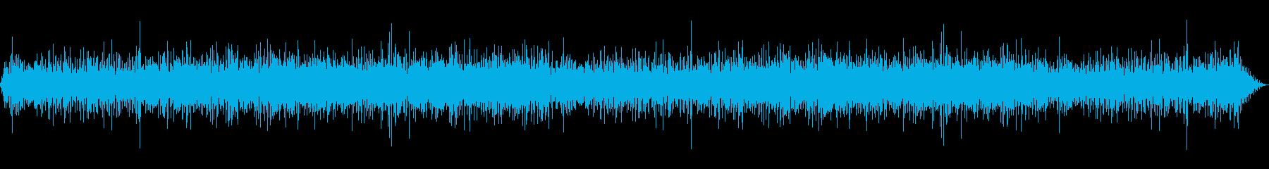 雨の降っている時の癒し環境音01-1の再生済みの波形