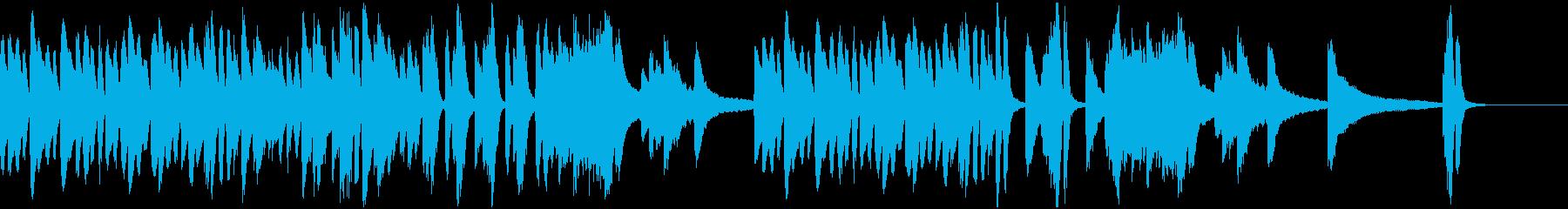 コミカルだけど重厚なピアノソロの再生済みの波形