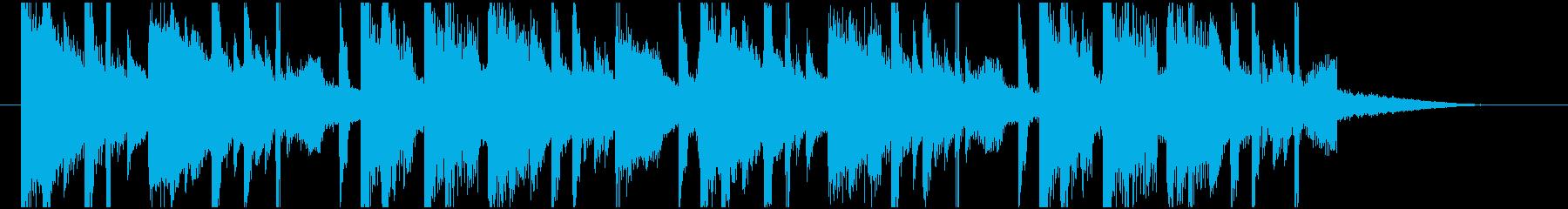 爽やかめフューチャーベースジングル15秒の再生済みの波形