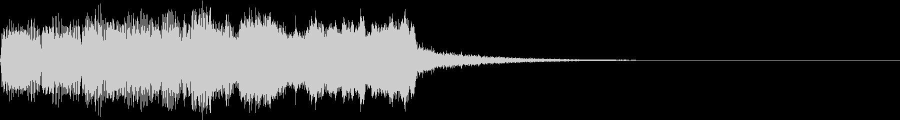 SE ポワーン クイズ出題前 上昇音 6の未再生の波形