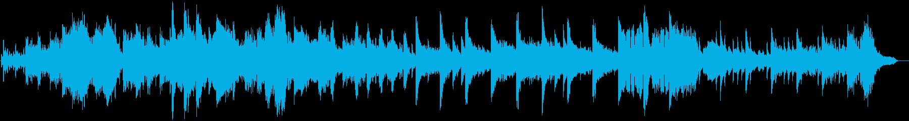 神秘的な浮遊感のあるフルートの再生済みの波形