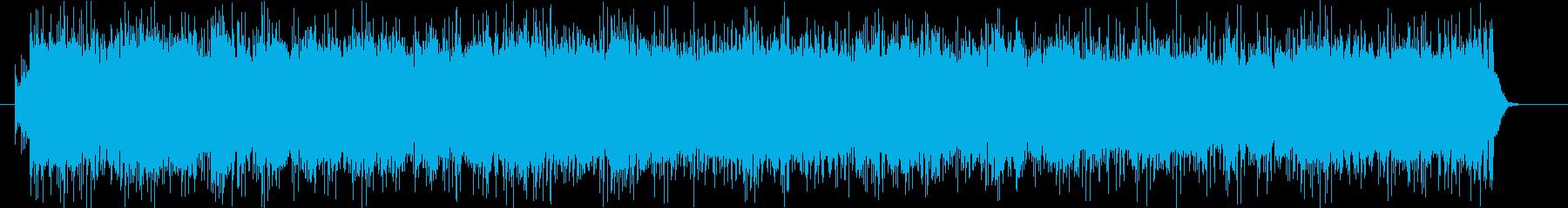 テンポが速い和風バトルBGMの再生済みの波形