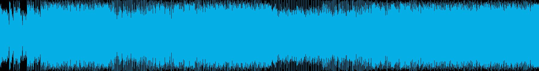 三味線でおしゃれファンクハウス ループの再生済みの波形