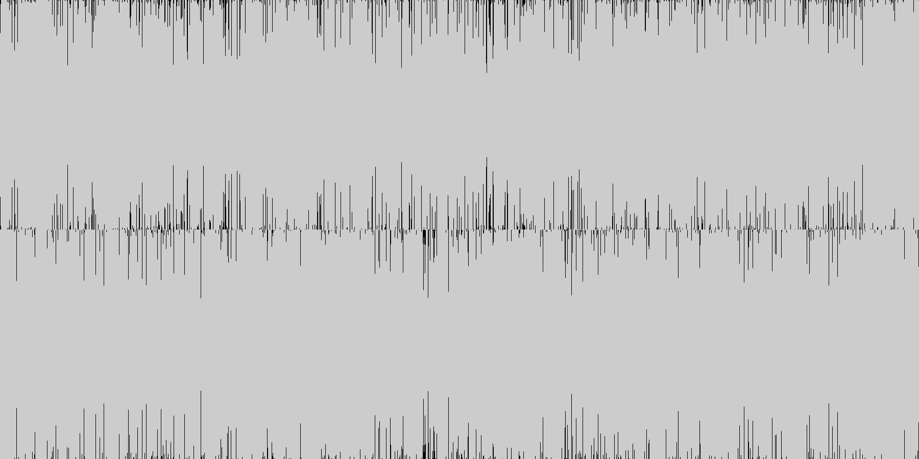 ズァァ。雨の音(どしゃぶり・短め)の未再生の波形