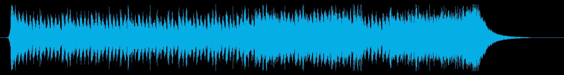 緊張感漂う劇伴風オーケストラBGMの再生済みの波形