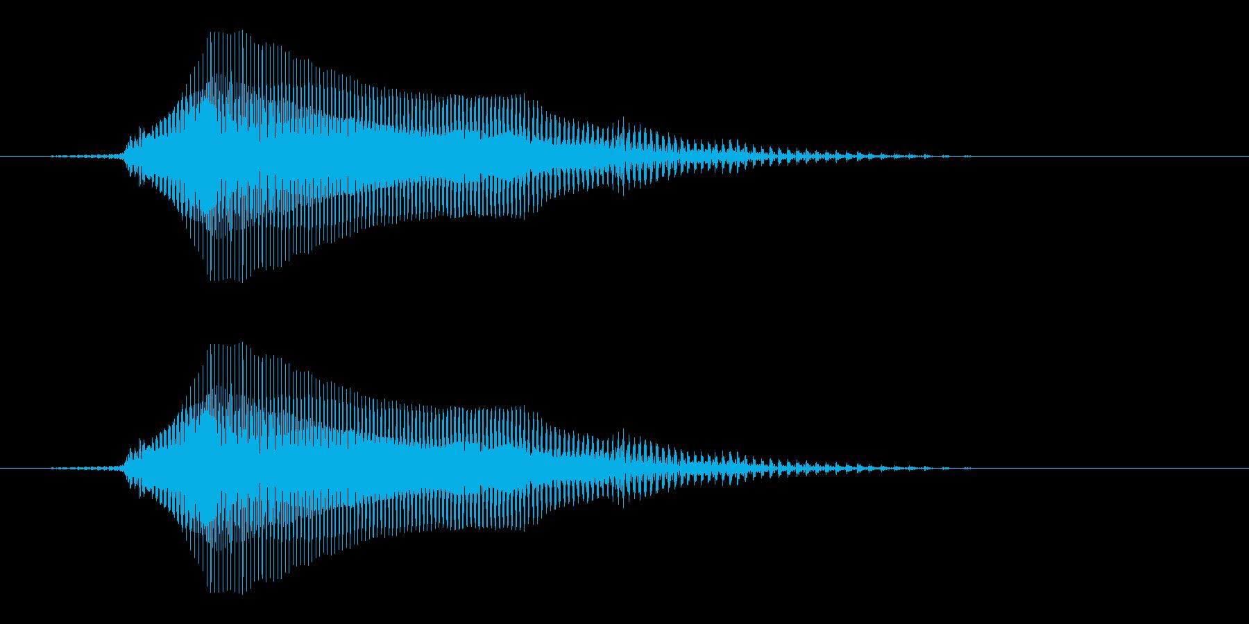 どん - 幼稚園児女の子(4歳)の再生済みの波形
