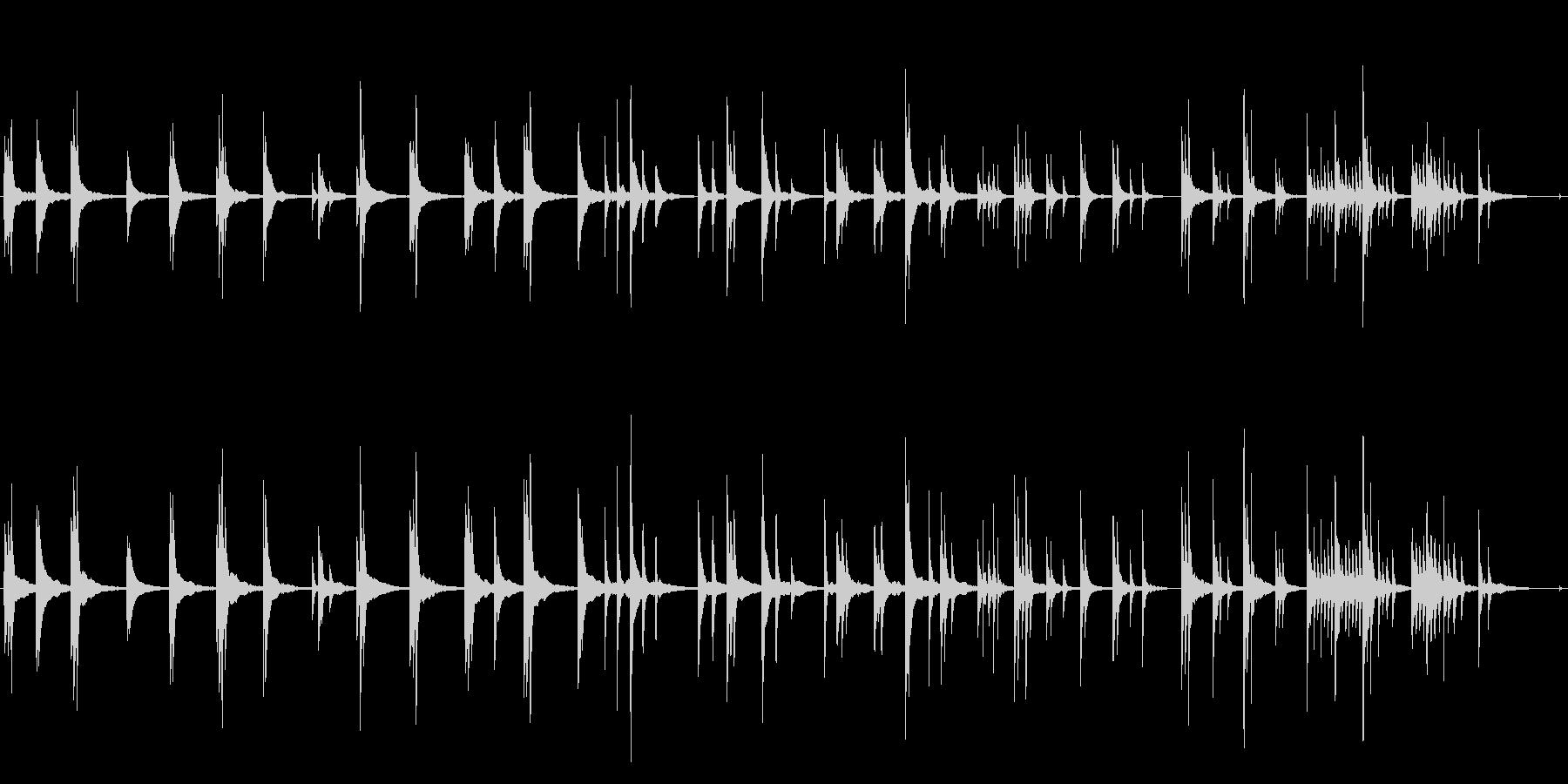 宴の後 子供のような寝顔 ■ ピアノソロの未再生の波形