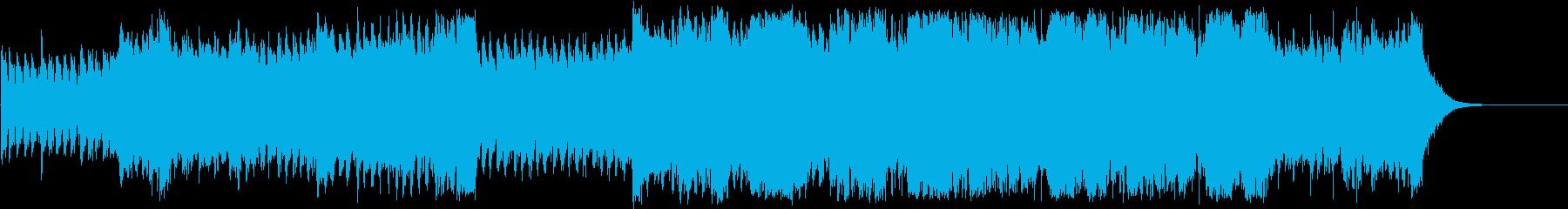 希望に満ちた壮大なフルオーケストラの再生済みの波形