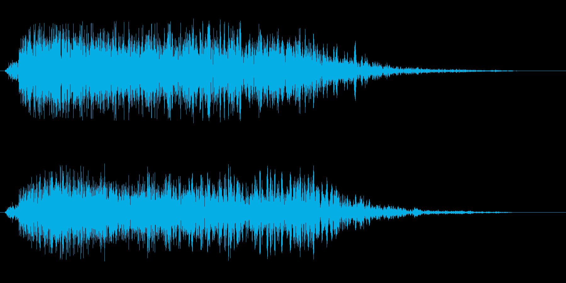 フーシューというエアー音の再生済みの波形