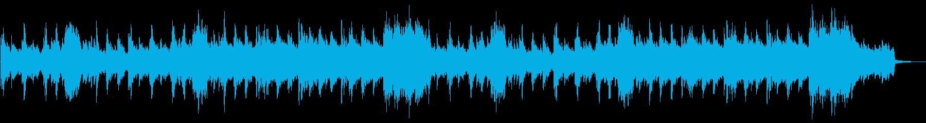 緊張感漂う曲の再生済みの波形
